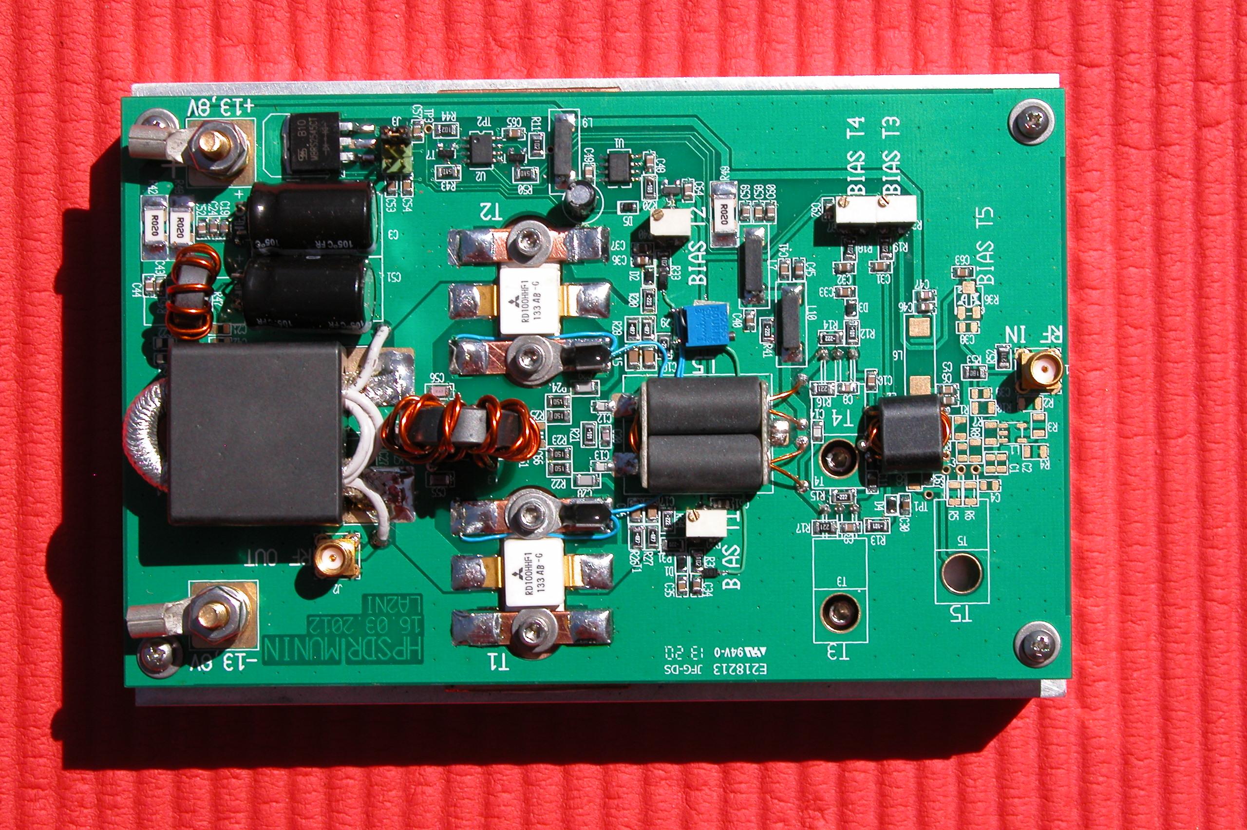 Vk5abn Openhpsdr Munin2 Hf Amplifier 300khz 30mhz Linear Munin 2 Assmebly